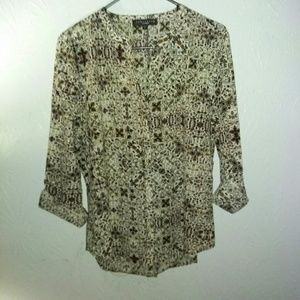 New Sanctuary Shirt L Stained Glass Button Blouse